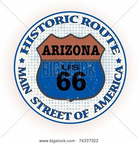 Historic Route 66 Arizona Stamp