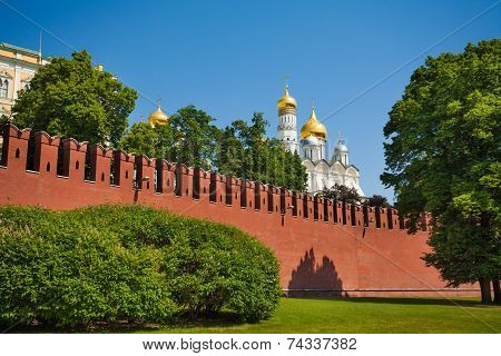 Kremlin wall view with Patriarch's Palace