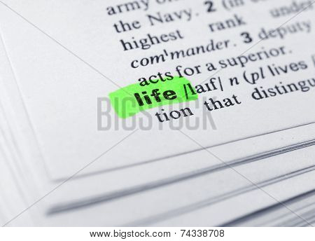 Word highlighted with green marker