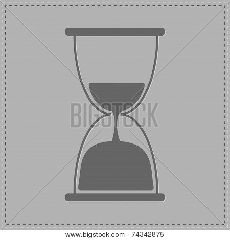 Grey Hourglass With Sand Inside. Card