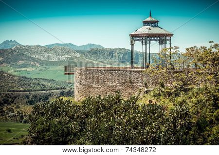 Viewpoint in Ronda. Malaga, Andalusia, Spain