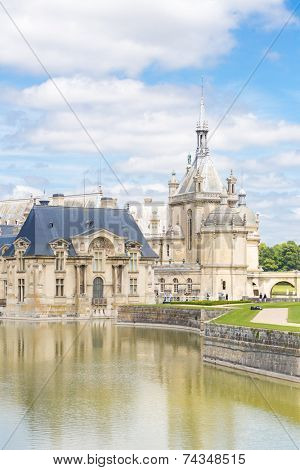 CHANTILLY, FRANCE  -JUN 19 Chateau de Chantilly of France on June 19, 2014. It is a historic castle located in the town of Chantilly. It houses the Museum of Conde