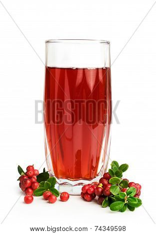 Cranberry Juice And Fresh Berries
