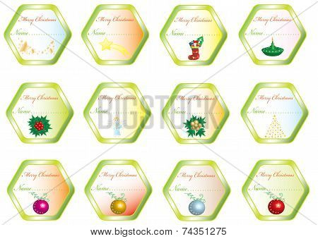 Set Christmas sticker