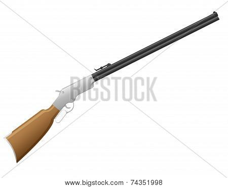 Rifle The Wild West Vector Illustration