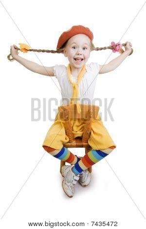 Surprise Fun Little Girl.