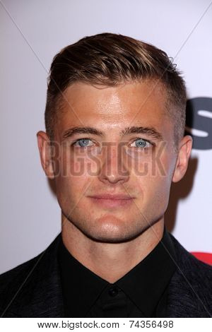 LOS ANGELES - OCT 17:  Robbie Rogers at the 10th Annual GLSEN Respect Awards at Regent Beverly Wilshire on October 17, 2014 in Beverly Hills, CA