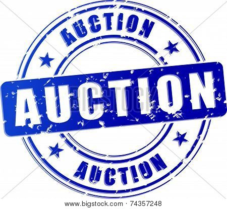 Auction Blue Stamp