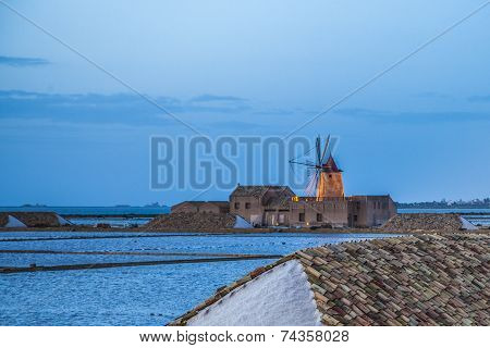Sicily Landscape With Saline