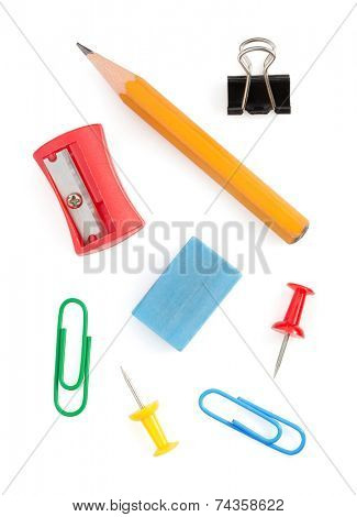 office supplies isolated on white background