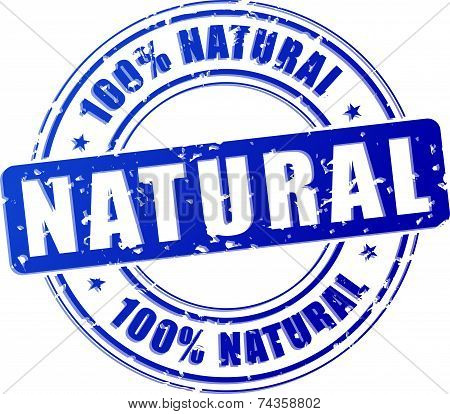 Natural Blue Stamp