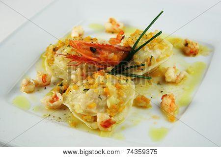 Ravioli Witih Shrimp