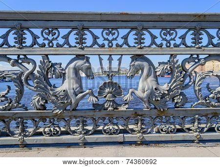 Blagoveshchensky bridge in St. Petersburg