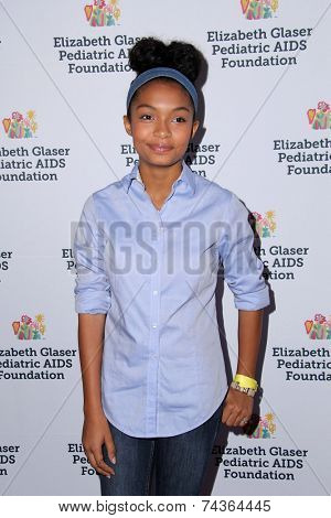 LOS ANGELES - OCT 19:  Yara Shahidi at the 25th Annual