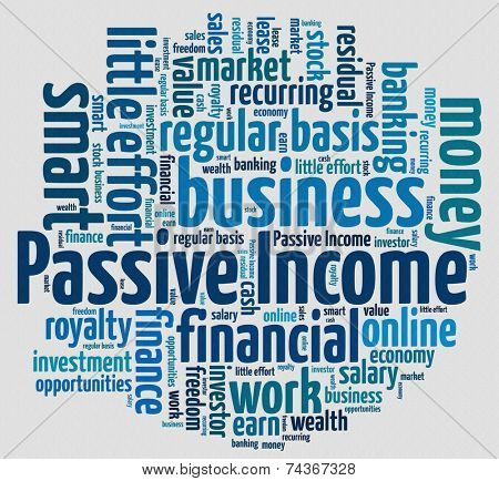 Passive Income concept in word collage