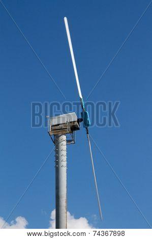 wind turbine in rotation
