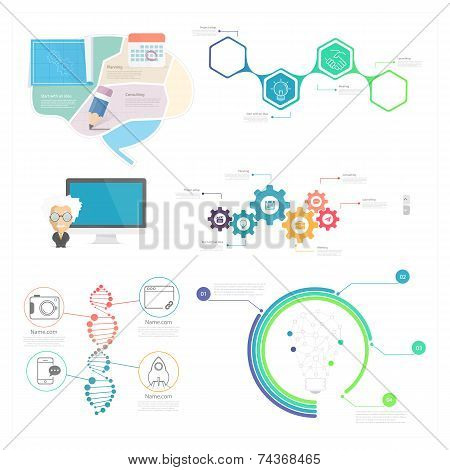 infographics elements for slide presentation and web templates.