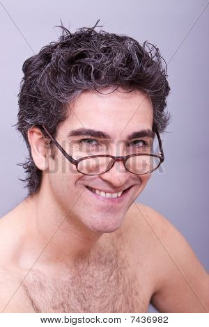 Man In Eyeglasses Smiling