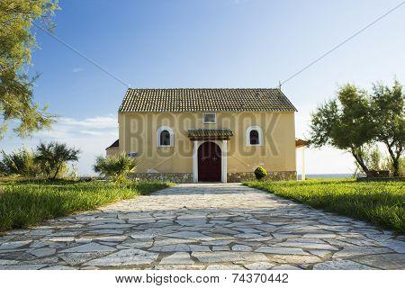 Old church on an island