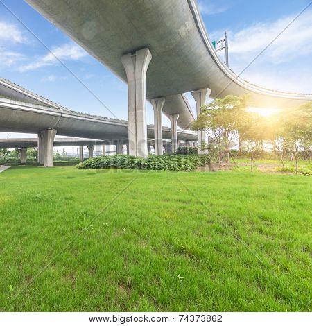 bridge overpass of shanghai china.
