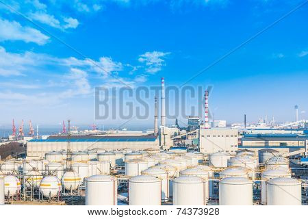 chemical plant, toned iamges, zhaijiang china.