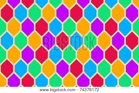 Retro Hexagons