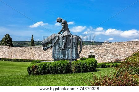 St. Francesco Knight, called the Pellegrino di Pace (Pilgrim of peace) in Assisi, Italy