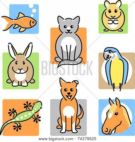 Pet animal icons