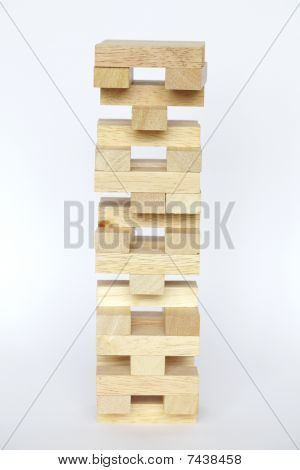 Jenga wooden blocks toy