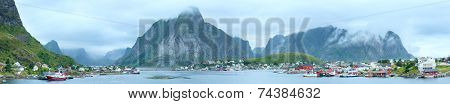 Summer Village Reine Panorama (lofoten, Norway).