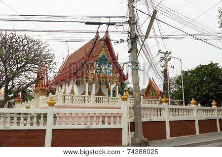 Pattaya, Thailand - January 14, 2012: Monastery fragment on Ko-Lang's island in Thailand