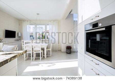 Open Kitchen And Dinning Room