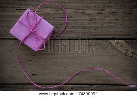 Purple Gift With Ribbon