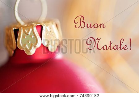 Christmas Ball With Buon Natale