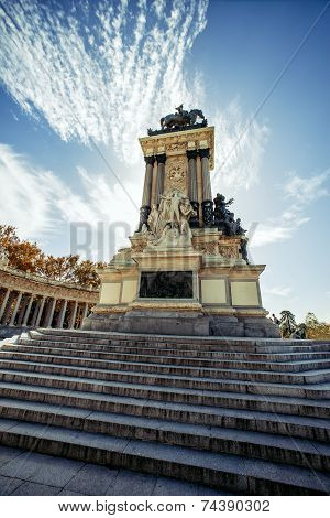 Monument To Alonso Xii, Buen Retiro Park, Madrid, Spain