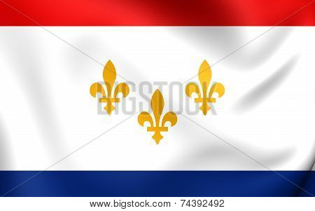Flag Of New Orleans, Usa.