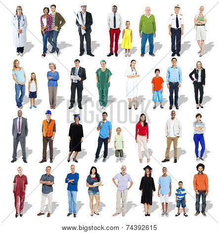 Diverse Multi-Ethnic Group of People with Professional Occupation
