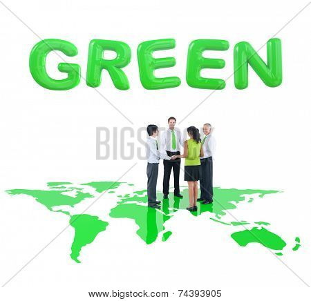 Group Of Business People Holding Hands For Environmental Conservation Concept
