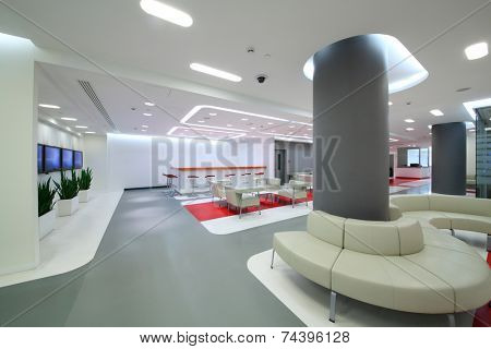 Empty office space in modern style for reception of visitors