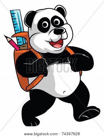 Panda go to School
