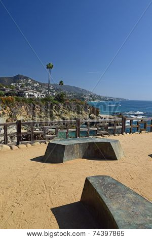 Modern Park Benches in Laguna Beach
