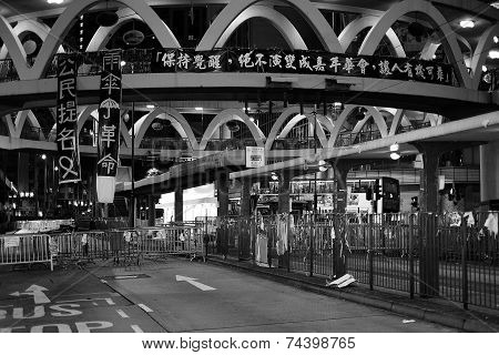 Umbrella Revolution In Causeway Bay