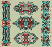 foto of adornment  - ornamental decorative ethnic floral adornment - JPG