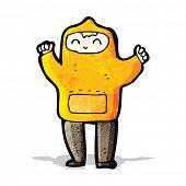 picture of hooded sweatshirt  - cartoon boy in hooded sweatshirt - JPG