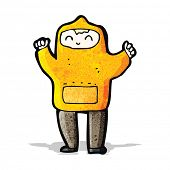 stock photo of hooded sweatshirt  - cartoon boy in hooded sweatshirt - JPG