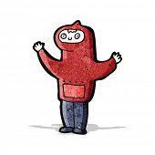 image of hooded sweatshirt  - cartoon boy in hooded sweatshirt - JPG