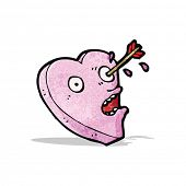 picture of love hurts  - love struck heart cartoon - JPG