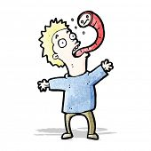 picture of parasite  - cartoon man with parasite - JPG
