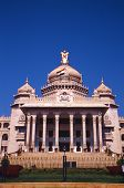 foto of vidhana soudha  - This is the city hall in Bangalore city of India - JPG