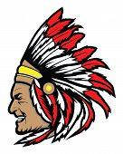 stock photo of apache  - apache head symbol Vector Illustration Design Editable  - JPG